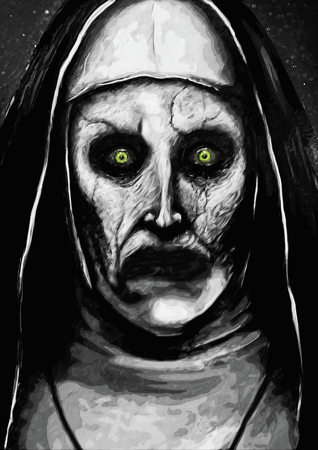 valak the demon nun digital art by zapista zapista