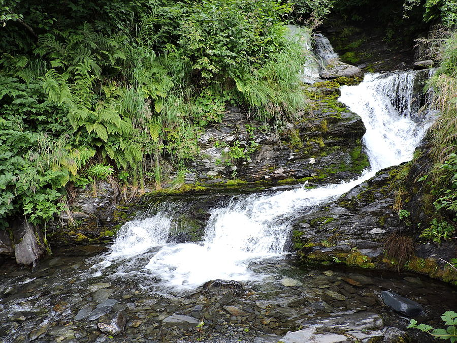 Water Photograph - Valdez Waterfall by Denise   Hoff