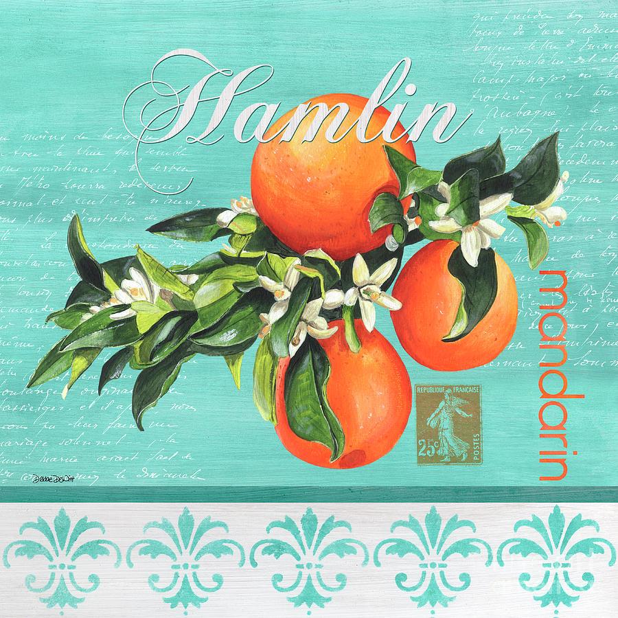 Orange Painting - Valencia 2 by Debbie DeWitt