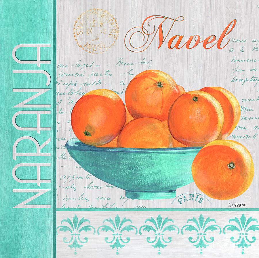 Orange Painting - Valencia 3 by Debbie DeWitt