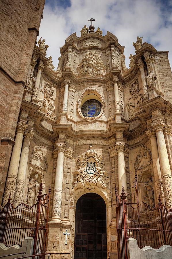 Valencia Cathedral Facade Photograph