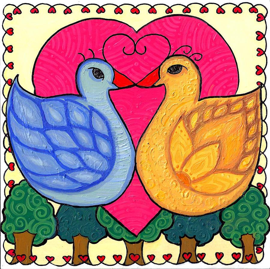 Valentine Birds by Caroline Sainis