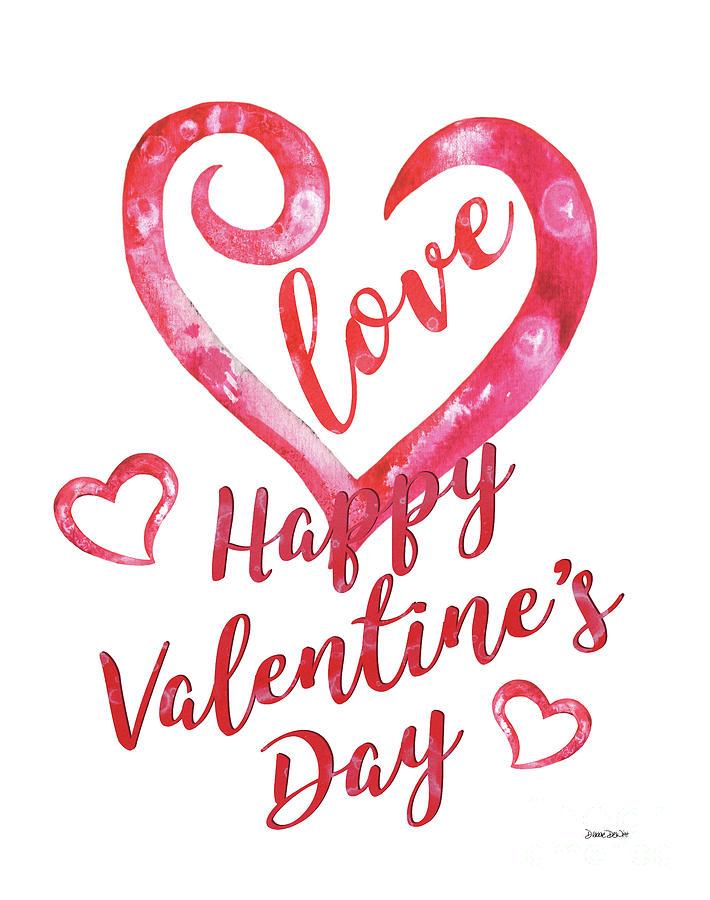Valentine Painting - Valentine by Debbie DeWitt