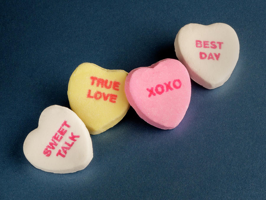 Hearts Photograph -  Valentine Hearts With A Message by Iris Richardson