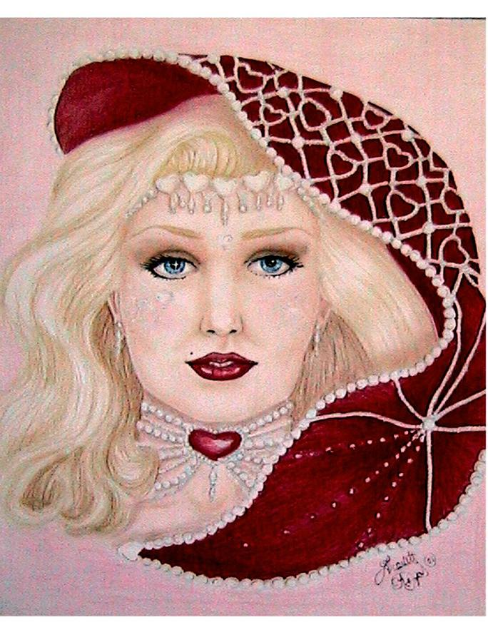 Portrait Drawing - Valentine by Scarlett Royal