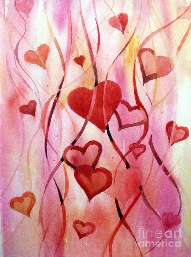 Heart Painting - Valentines Day by Natalia Eremeyeva Duarte