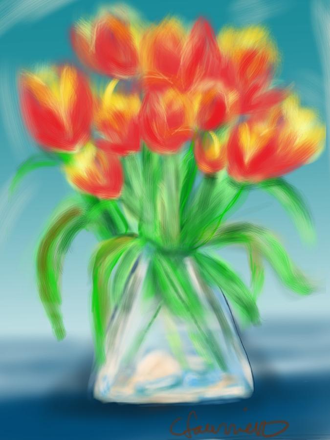 Valentine's Day Tulips by Christine Fournier