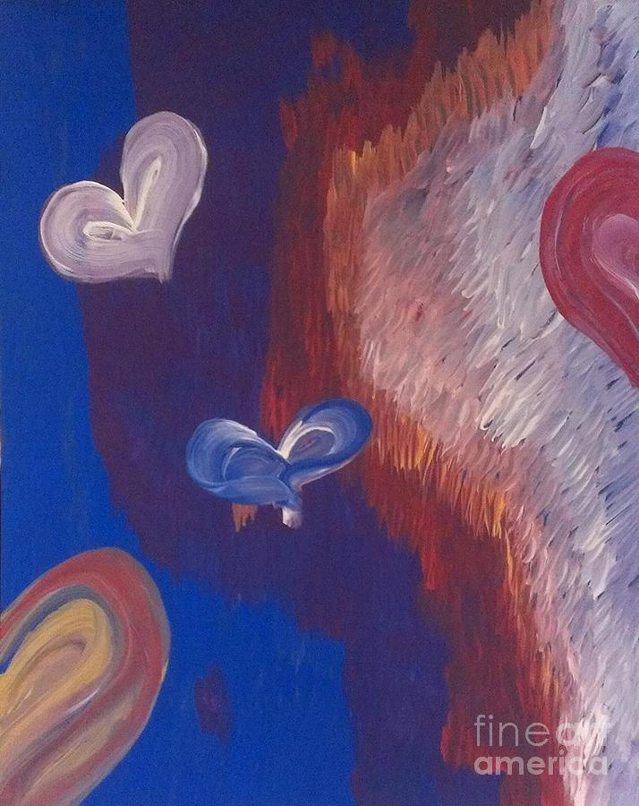 Valentine's Painting - Valentines by LKB Art and Photography