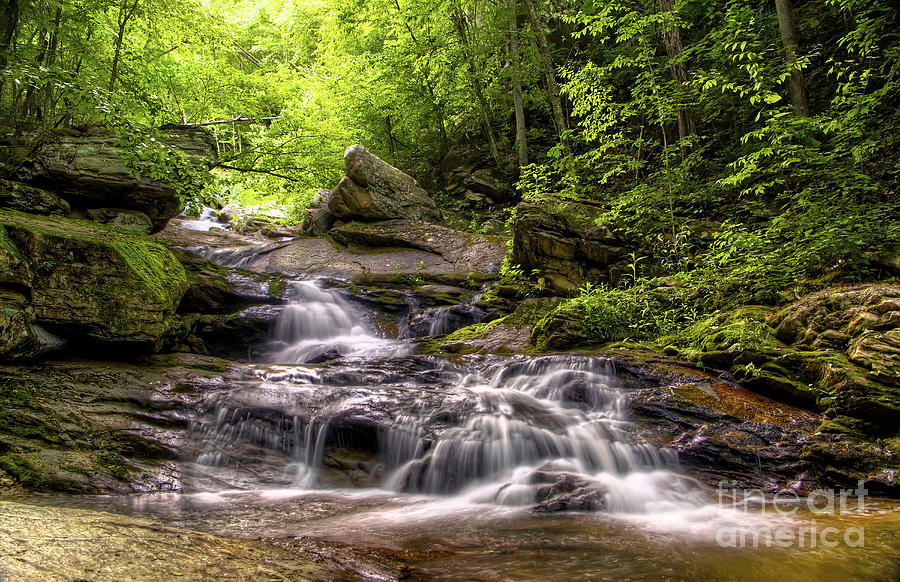 Waterfall Photograph - Valle Crucis Waterfall by James Foshee