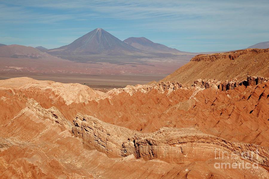 Valle De La Muerte And Licancabur Volcano Chile By James Brunker