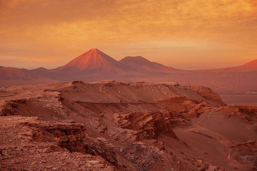Valle de la Muerte Sunset by Stephen Dennstedt