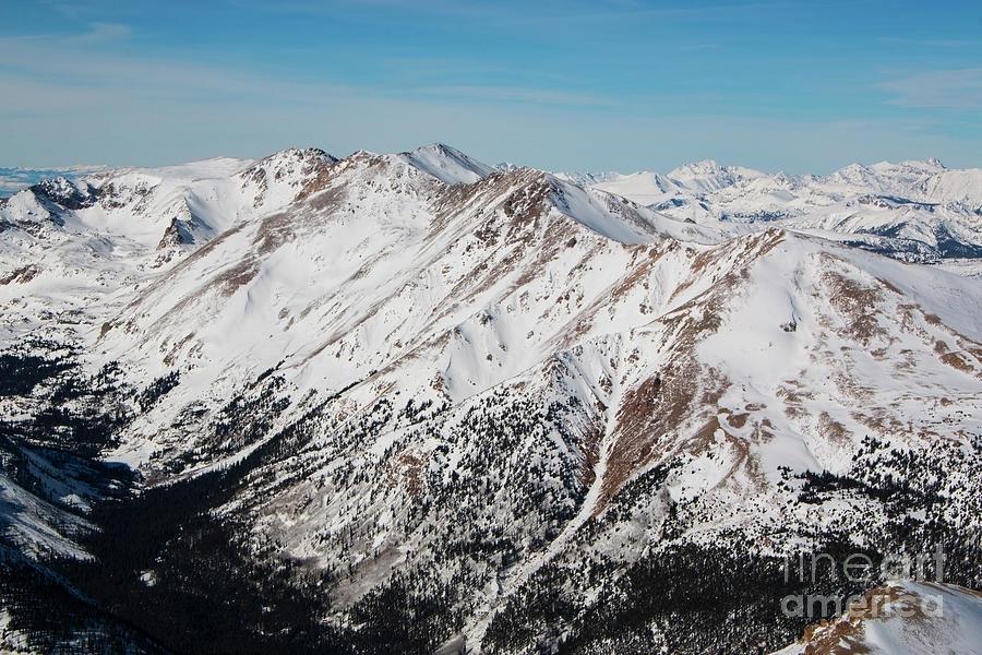 Valley Below Summit Of Mount Elbert Colorado In Winter Photograph