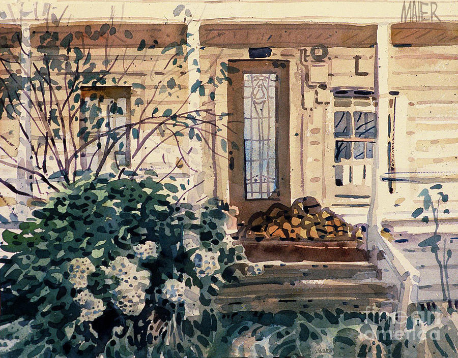Plein Air Painting - Valley Ford House by Donald Maier
