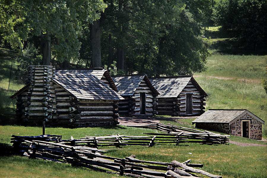 America Photograph - Valley Forge Barracks by Tom Gari Gallery-Three-Photography
