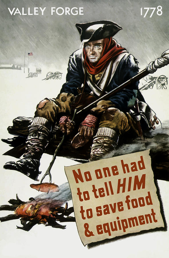 World War Ii Painting - Valley Forge Soldier - Conservation Propaganda by War Is Hell Store
