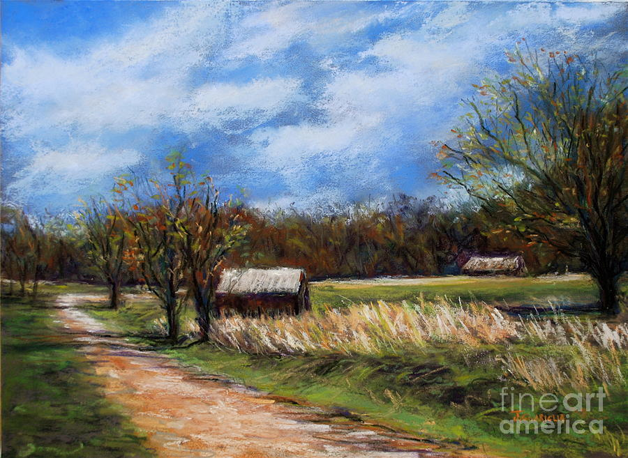 Landscape Pastel - Valley Forge Summer by Joyce A Guariglia