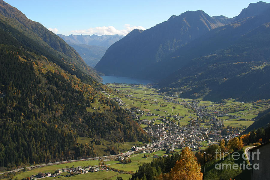 Switzerland Photograph - Valley In The Alps by Stan and Anne Foster