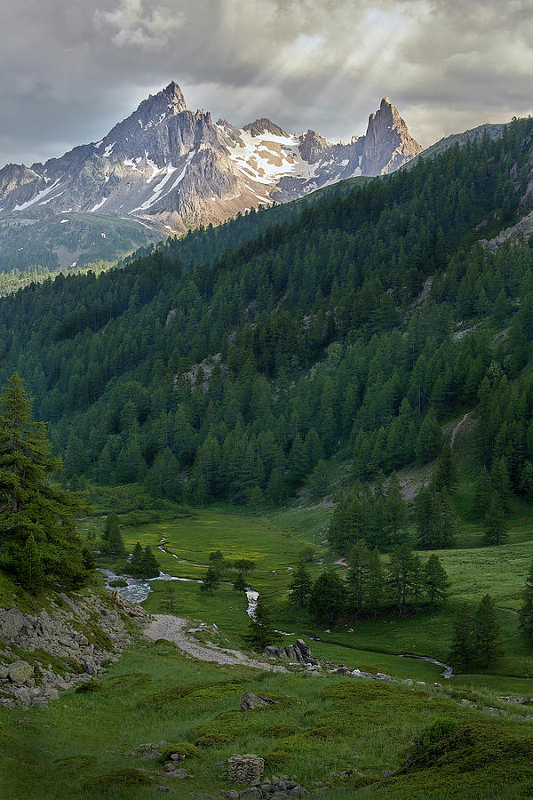 Hautes-alpes Photograph - Valley In The French Alps by Jon Glaser