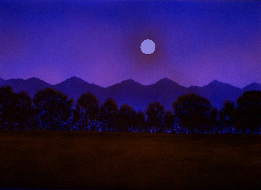 Night Painting - Valley Light by Frank Wilson