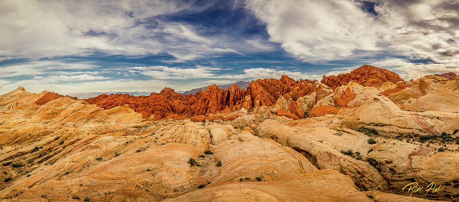 Formations Photograph - Valley Of Fire Panorama by Rikk Flohr
