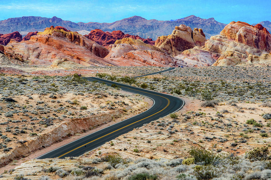 Road Through The Valley of Fire by Paul Johnson