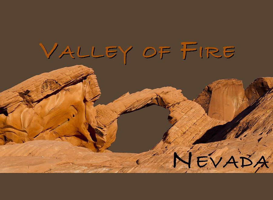 Arch Digital Art - Valley Of Fire by Rae Tucker