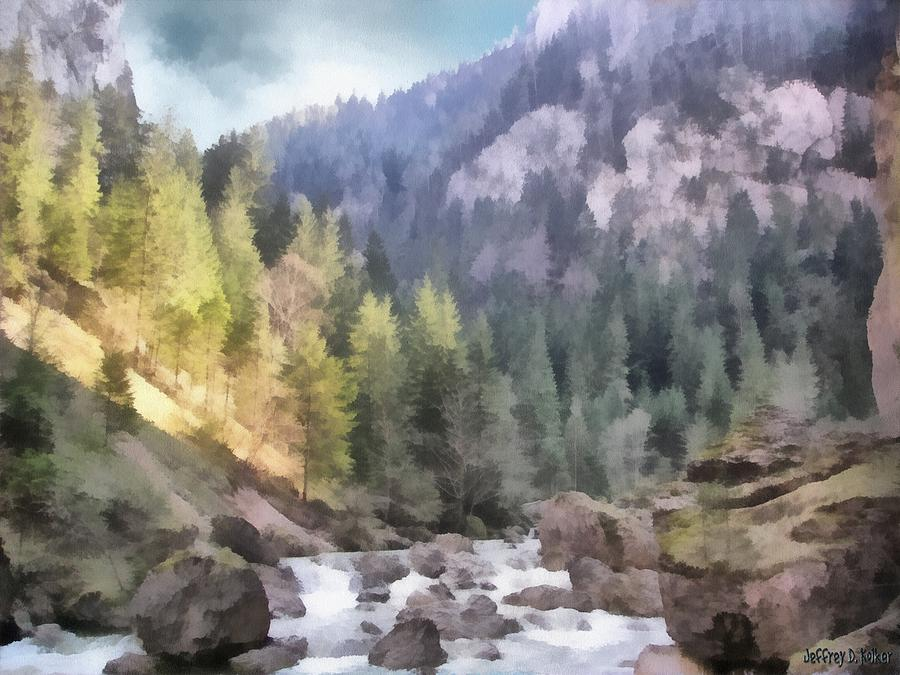 Carpathian Painting - Valley Of Light And Shadow by Jeffrey Kolker