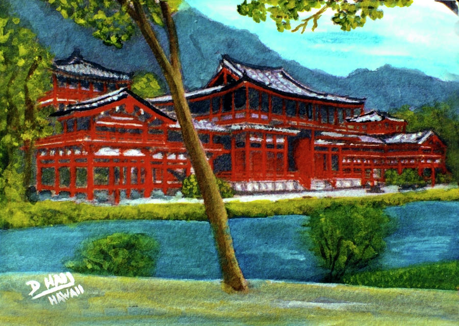 Valley Of The Temples Painting - Valley Of The Temples Buddhist Temple #73 by Donald k Hall
