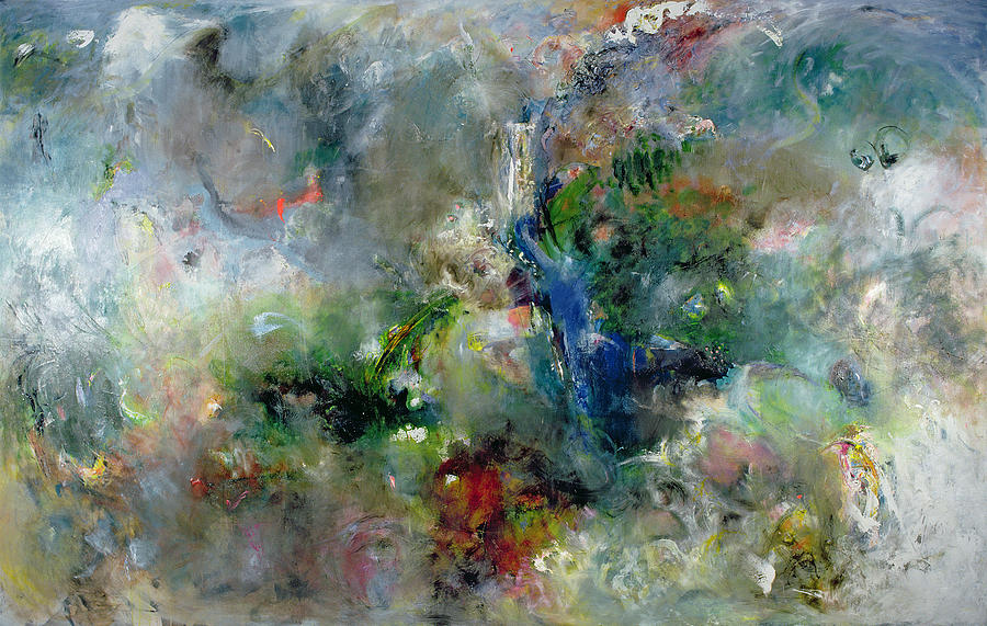 Abstract Painting - Valley Of The Waterfalls by Jane Deakin