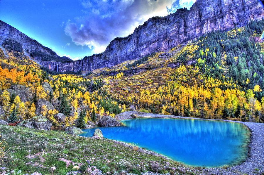 Colorado Photograph - Valley Peak And Falls by Scott Mahon