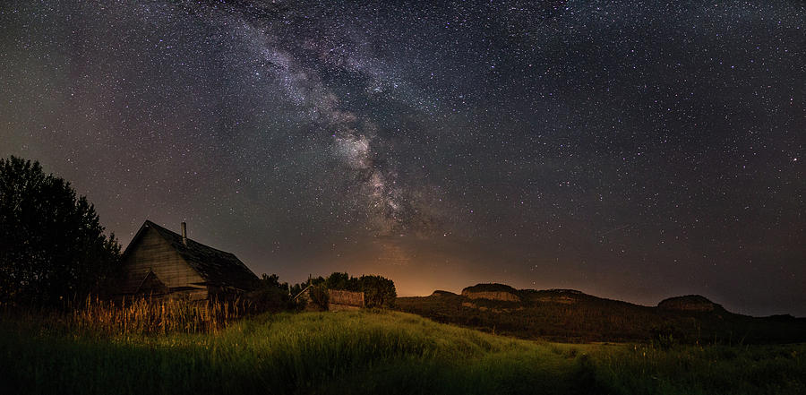 Abandoned Photograph - Valley Road Homestead under a Milky Way by Jakub Sisak