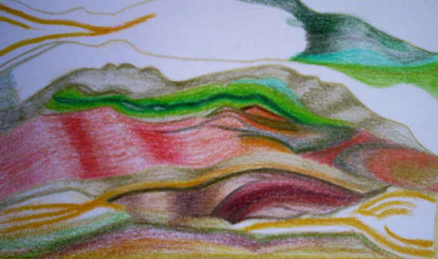 Abstract Painting - Valley Stream by Suzanne Udell Levinger