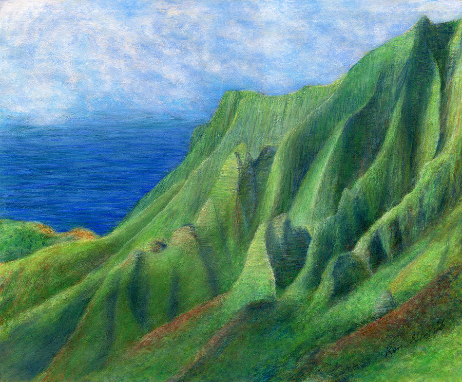 Tropical Interior Design Painting - Valley Sunlight by Kenneth Grzesik