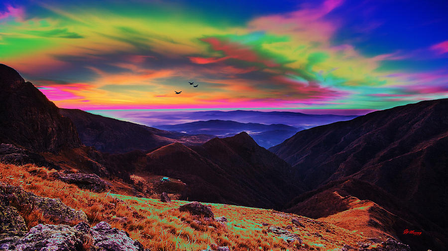 Valley Digital Art - Valley Sunset by Gregory Murray