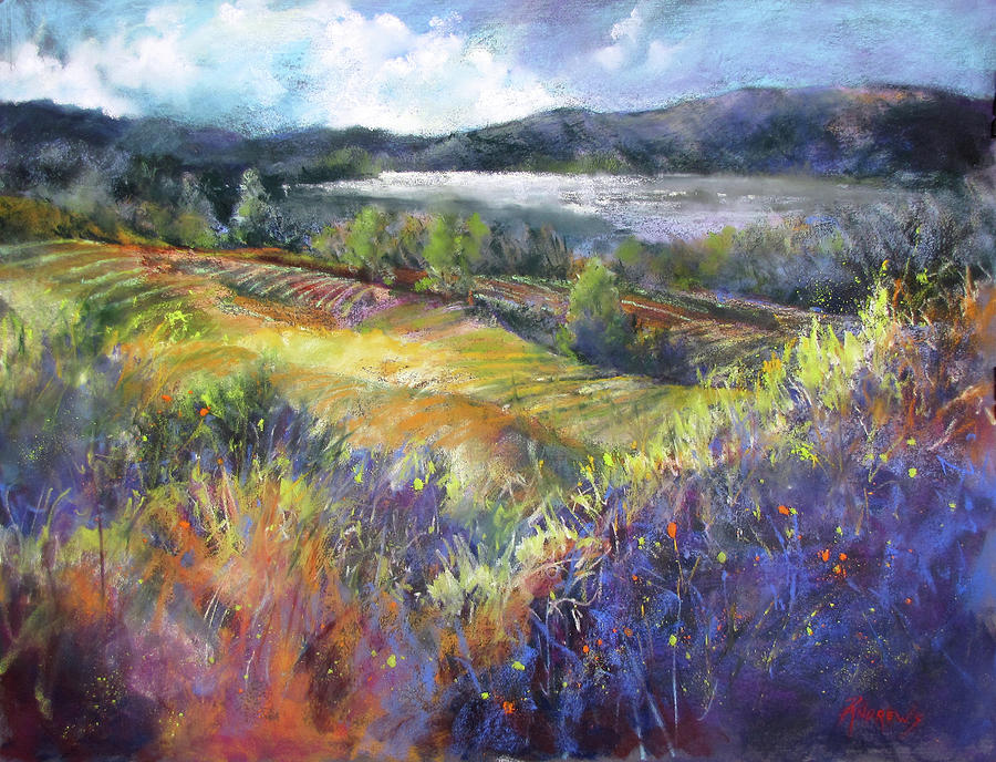 Landscape Painting - Valley View by Rae Andrews