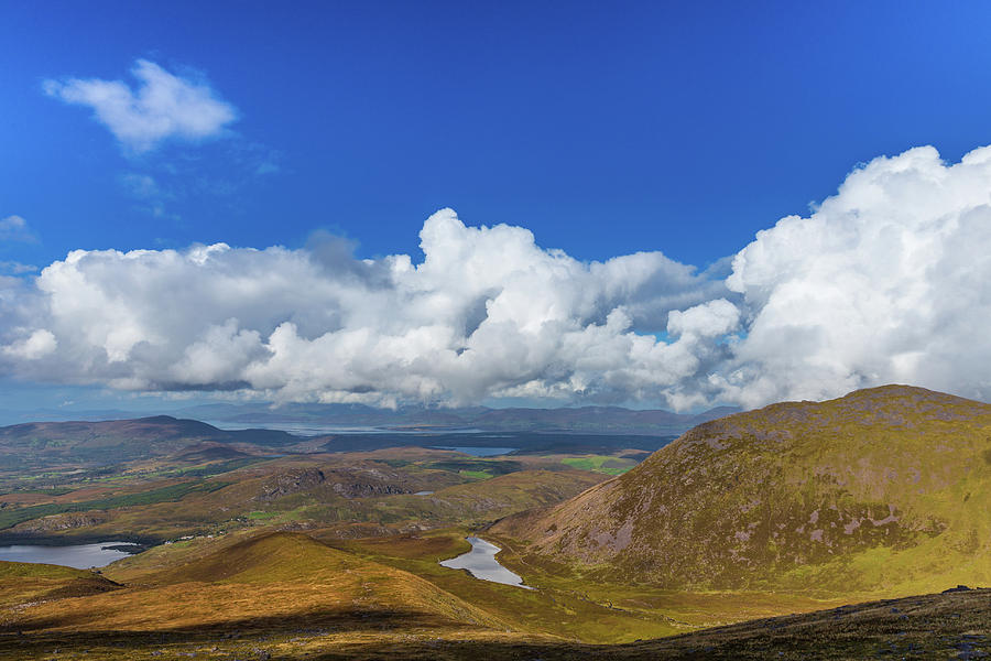 Valleys and mountains in County Kerry on a summer day by Semmick Photo