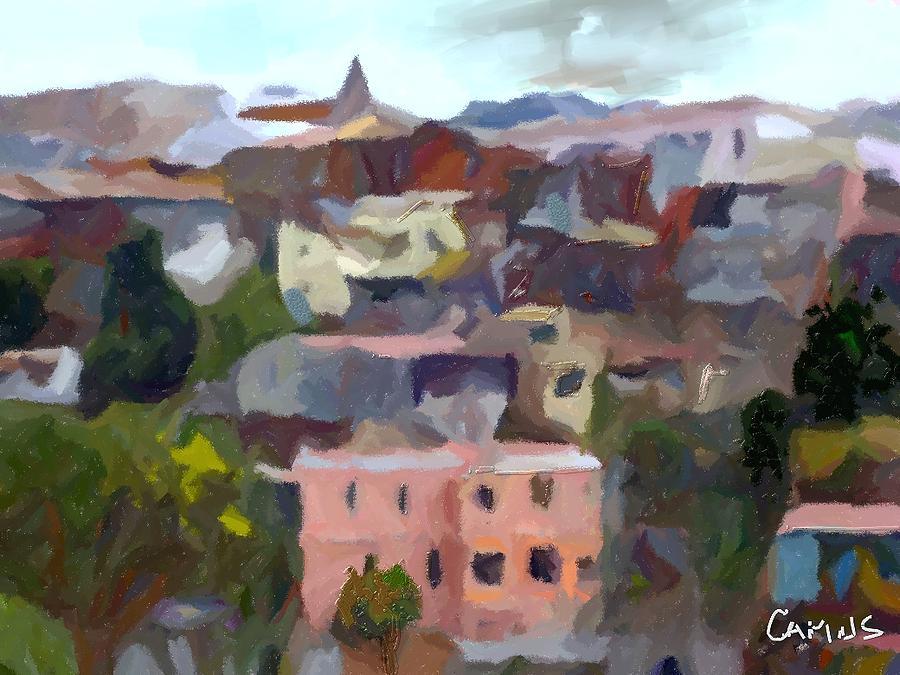 Paint Painting - Valparaiso - Chile by Carlos Camus
