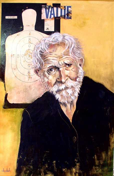 Old Man Painting - Value by Ixchel Amor