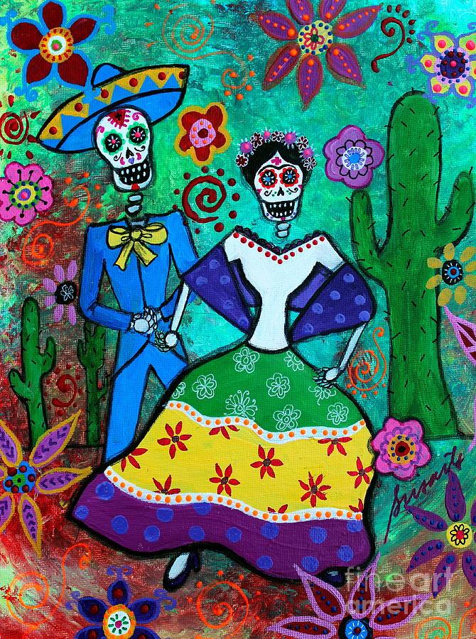 Frida Kahlo Painting - Vamos  A Bailar by Pristine Cartera Turkus