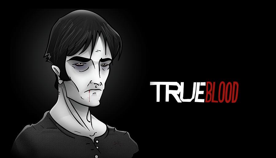 Vampire Digital Art - Vampire Bill Compton by Justin Peele