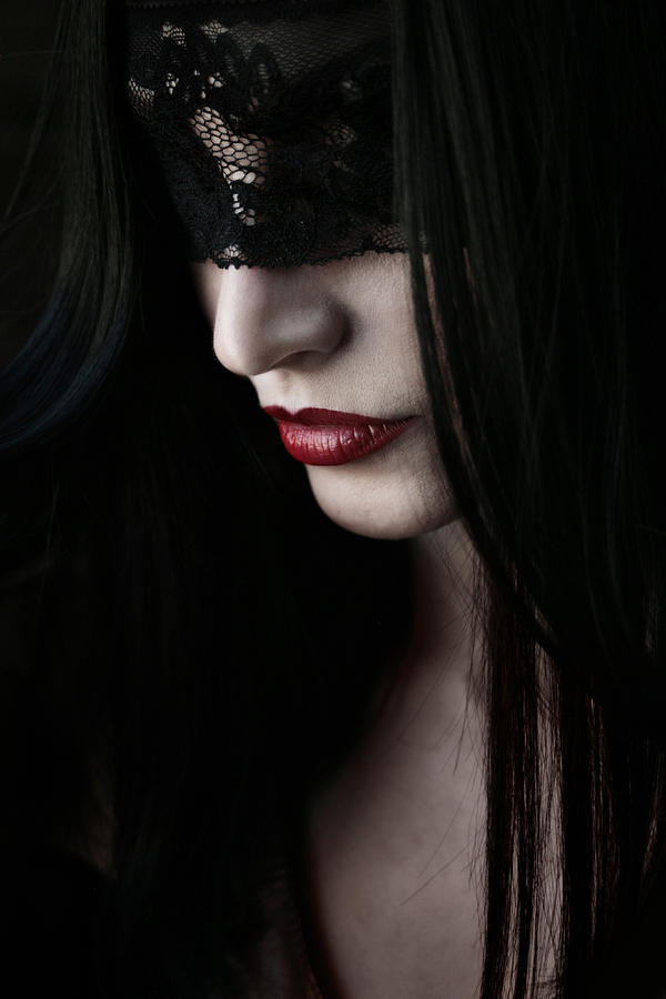 Portrait Photograph - Vampire Kiss by Cambion Art
