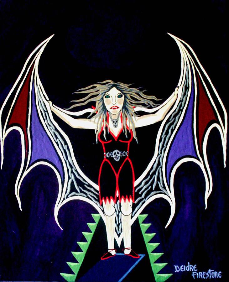 Vampire Painting - Vampire Lady Of Death by Deidre Firestone