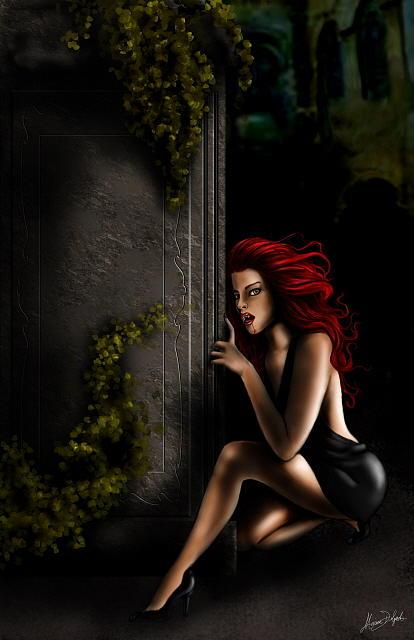 Vampire Digital Art by Monica Delgado