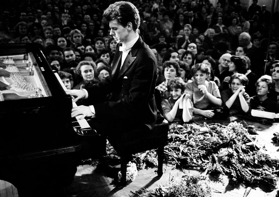 1960s Photograph - Van Cliburn Is The First Foreigner by Everett