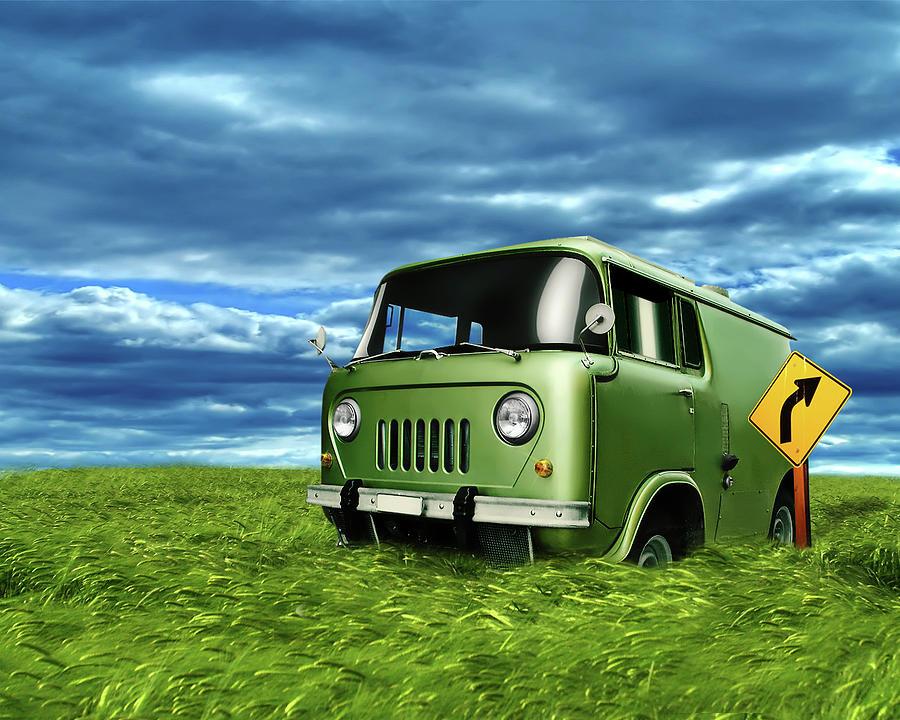 Van Digital Art - Van by Dorothy Binder