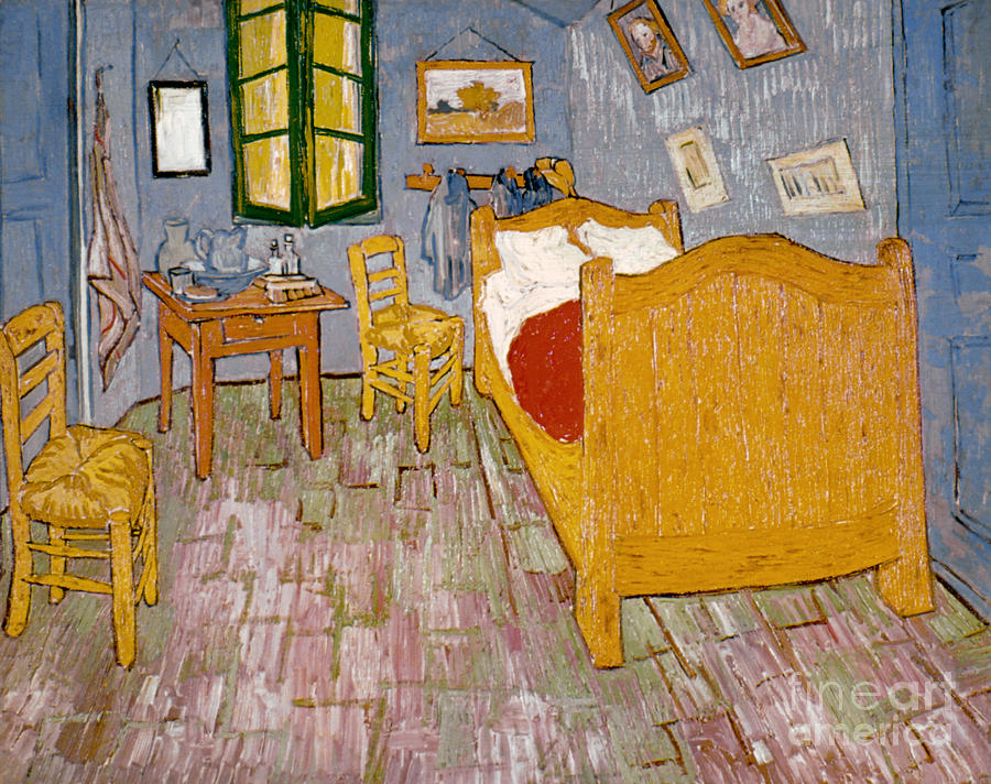 1888 Photograph - Van Gogh: Bedroom, 1888 by Granger