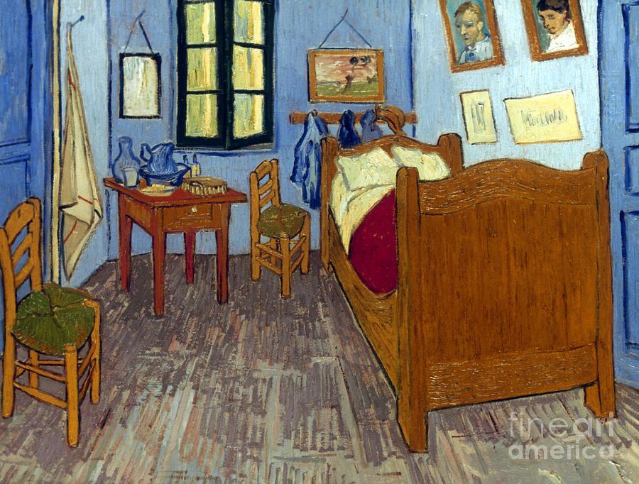 1889 Photograph - Van Gogh: Bedroom, 1889 by Granger