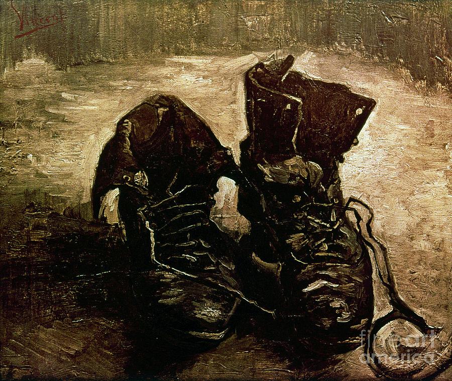 1886 Photograph - Van Gogh Boots 1886 by Granger