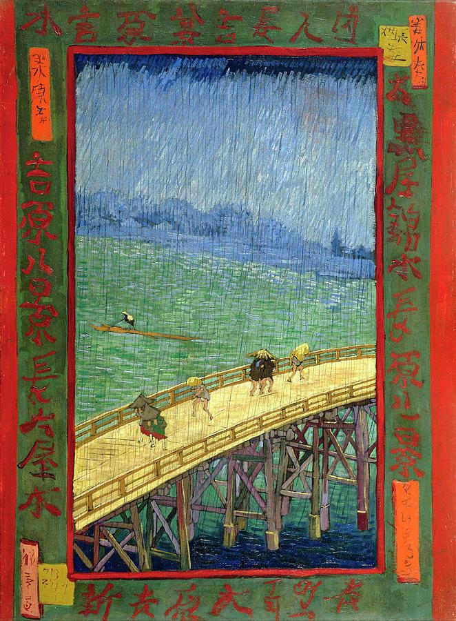 Van Gogh Painting - Van Gogh Bridge in Rain after Hiroshige by Vincent Van Gogh