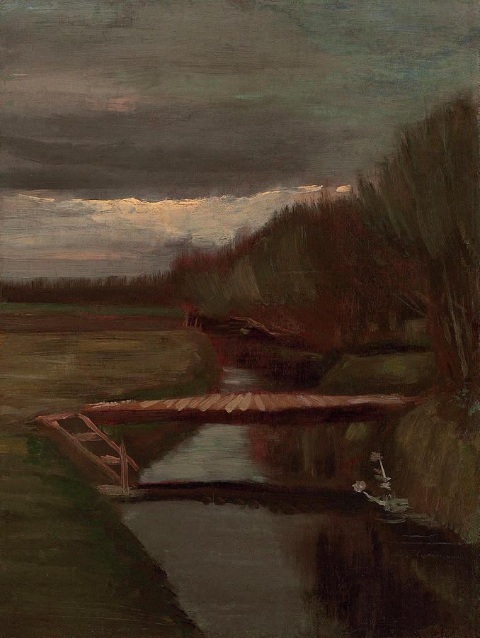 Van Gogh Painting - Van Gogh Ditch And Small Bridge by Vincent Van Gogh